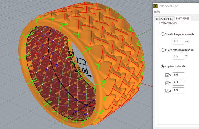 Editing in tempo reale per la creazione di texture innovative.