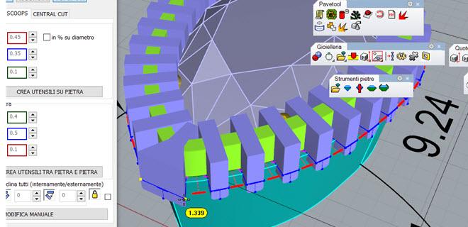 Creazione automatica degli utensili per la sgriffatura del modello