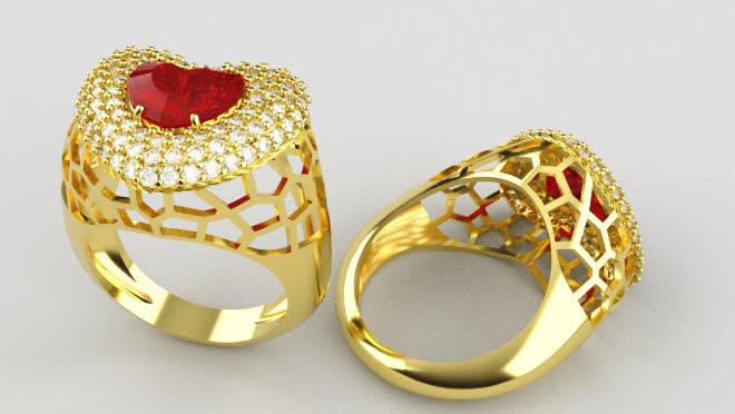 logis3d anello cuore con pietra centrale 02