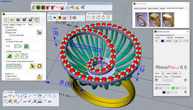 logis3d pro-j halix ring 0